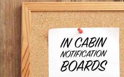 In Cabin Notification Boards